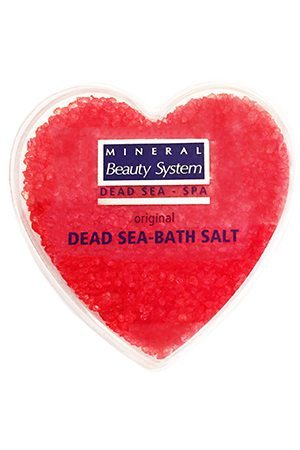 dead sea salt rose heart